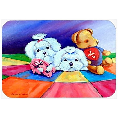 Caroline's Treasures Maltese Kitchen/Bath Mat; 24'' H x 36'' W x 0.25'' D