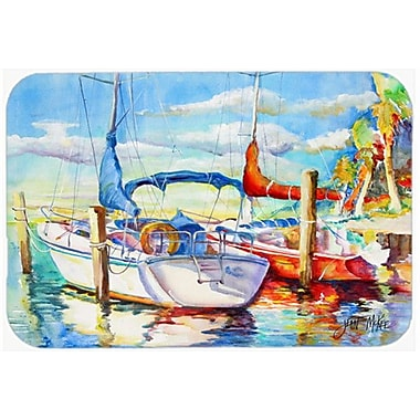 Caroline's Treasures Towering q Sailboat Kitchen/Bath Mat; 20'' H x 30'' W x 0.25'' D