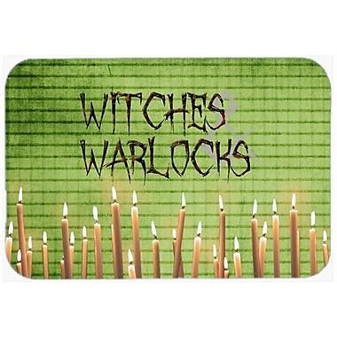 Caroline's Treasures Witches and Warlocks Halloween Kitchen/Bath Mat; 24'' H x 36'' W x 0.25'' D