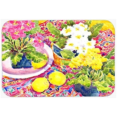 Caroline's Treasures Flower Primroses Kitchen/Bath Mat; 20'' H x 30'' W x 0.25'' D