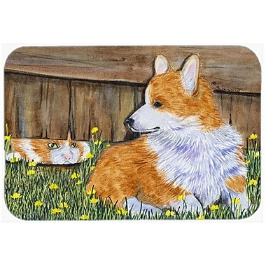 Caroline's Treasures Corgi Kitchen/Bath Mat; 20'' H x 30'' W x 0.25'' D