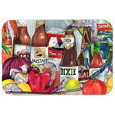 Caroline's Treasures New Orleans Beers and Spices Kitchen/Bath Mat; 20'' H x 30'' W x 0.25'' D