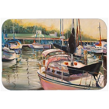 Caroline's Treasures Sails Sailboat Kitchen/Bath Mat; 20'' H x 30'' W x 0.25'' D