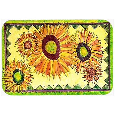 Caroline's Treasures Flower Sunflower Kitchen/Bath Mat; 20'' H x 30'' W x 0.25'' D