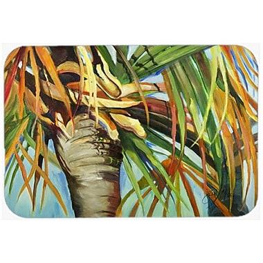 Caroline's Treasures Orange Top Palm Tree Kitchen/Bath Mat; 20'' H x 30'' W x 0.25'' D