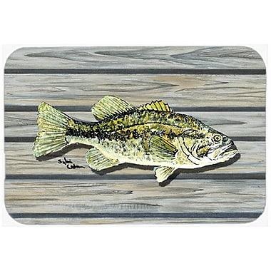Caroline's Treasures Fish Bass Small Mouth Kitchen/Bath Mat; 24'' H x 36'' W x 0.25'' D