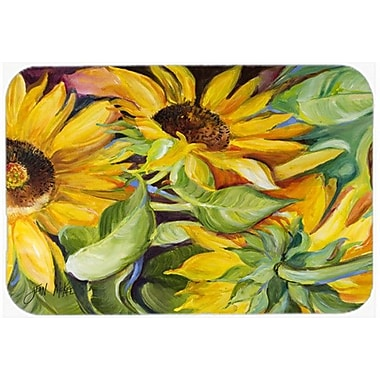 Caroline's Treasures Sunflowers Kitchen/Bath Mat; 24'' H x 36'' W x 0.25'' D