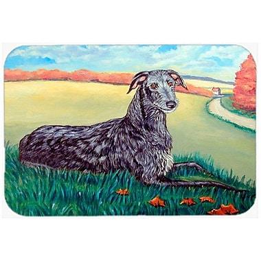 Caroline's Treasures Scottish Deerhound Kitchen/Bath Mat; 24'' H x 36'' W x 0.25'' D