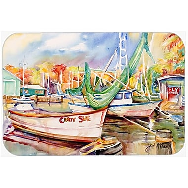 Caroline's Treasures Sailboat Cindy Sue Kitchen/Bath Mat; 24'' H x 36'' W x 0.25'' D