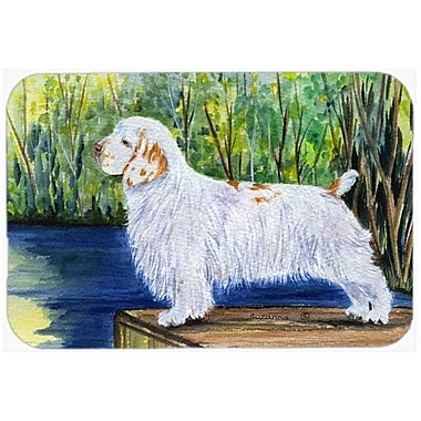 Caroline's Treasures Clumber Spaniel Kitchen/Bath Mat; 24'' H x 36'' W x 0.25'' D