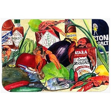 Caroline's Treasures Spices and Crawfish Kitchen/Bath Mat; 24'' H x 36'' W x 0.25'' D