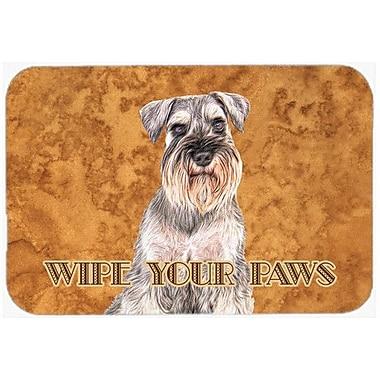 Caroline's Treasures Schnauzer Wipe Your Paws Kitchen/Bath Mat; 24'' H x 36'' W x 0.25'' D