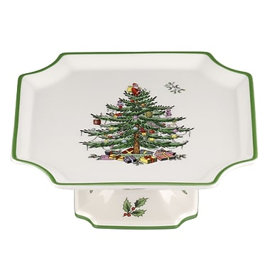 Spode Christmas Tree Serve Footed Cake stand
