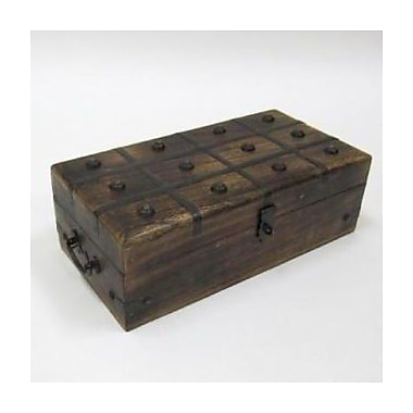 Woodland Imports Pirate Treasure Chest w/ Inlaid
