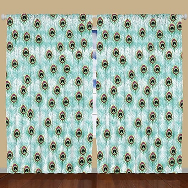 Ambesonne Curtain Panels (Set of 2); 108'' W x 90'' L