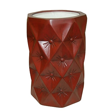 Hickory Manor House Starlight End Table; Antique Chinese Red
