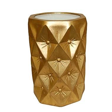 Hickory Manor House Starlight End Table; Gold Leaf