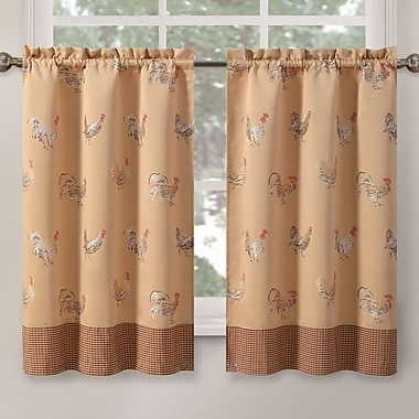 HFI Rooster Tier Curtain; 24'' H