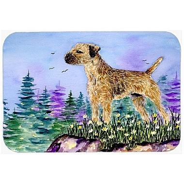 Caroline's Treasures Border Terrier Kitchen/Bath Mat; 20'' H x 30'' W x 0.25'' D