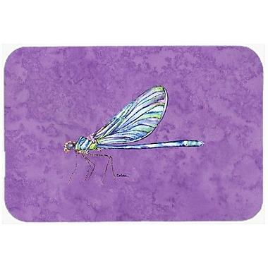 Caroline's Treasures Dragonfly on Purple Kitchen/Bath Mat; 20'' H x 30'' W x 0.25'' D