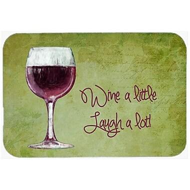 Caroline's Treasures Wine a Little Laugh a Lot Kitchen/Bath Mat; 20'' H x 30'' W x 0.25'' D