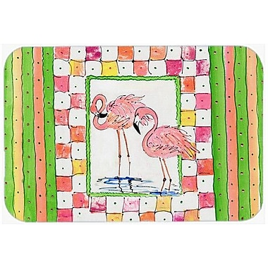 Caroline's Treasures Bird Flamingo Kitchen/Bath Mat; 24'' H x 36'' W x 0.25'' D