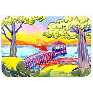 Caroline's Treasures Dock At The Pier Kitchen/Bath Mat; 20'' H x 30'' W x 0.25'' D