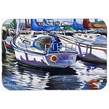 Caroline's Treasures Sunshine Sailboat Kitchen/Bath Mat; 20'' H x 30'' W x 0.25'' D