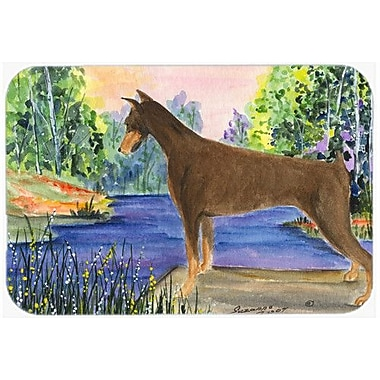 Caroline's Treasures Doberman Kitchen/Bath Mat; 20'' H x 30'' W x 0.25'' D