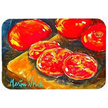 Caroline's Treasures Vegetables Tomatoes Slice It Up Kitchen/Bath Mat; 24'' H x 36'' W x 0.25'' D