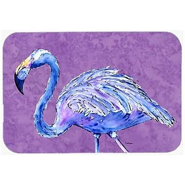Caroline's Treasures Flamingo on Purple Kitchen/Bath Mat; 24'' H x 36'' W x 0.25'' D
