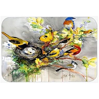 Caroline's Treasures Spring Birds Kitchen/Bath Mat; 20'' H x 30'' W x 0.25'' D