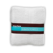 Martex Commercial Bath Towel (Set of 6); White