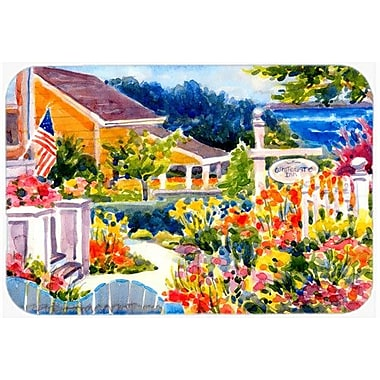 Caroline's Treasures Seaside Beach Cottage Kitchen/Bath Mat; 24'' H x 36'' W x 0.25'' D