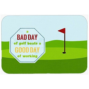 Caroline's Treasures A Bad Day At Golf Kitchen/Bath Mat; 20'' H x 30'' W x 0.25'' D