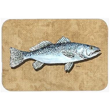 Caroline's Treasures Speckled Trout Kitchen/Bath Mat; 20'' H x 30'' W x 0.25'' D