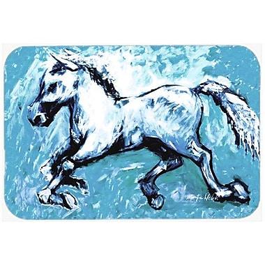 Caroline's Treasures Shadow The Horse Kitchen/Bath Mat; 24'' H x 36'' W x 0.25'' D