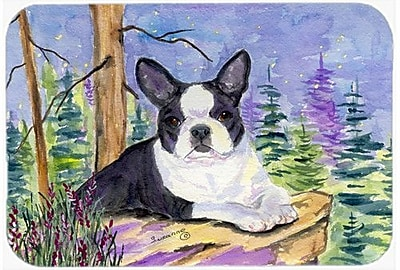 Caroline's Treasures Boston Terrier Kitchen/Bath Mat; 24'' H x 36'' W x 0.25'' D