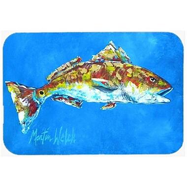 Caroline's Treasures Fish Seafood Two Kitchen/Bath Mat; 20'' H x 30'' W x 0.25'' D