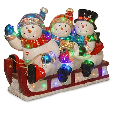 National Tree Co. Sledding 3 Snowmen Christmas Decoration