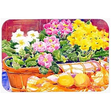 Caroline's Treasures Flower Primroses Kitchen/Bath Mat; 20'' H x 30'' W x 0.25'' D