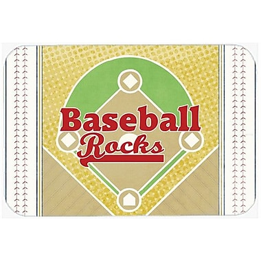 Caroline's Treasures Baseball Rocks Kitchen/Bath Mat; 24'' H x 36'' W x 0.25'' D
