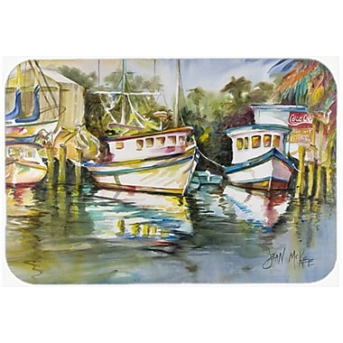 Caroline's Treasures Fish Market Kitchen/Bath Mat; 24'' H x 36'' W x 0.25'' D