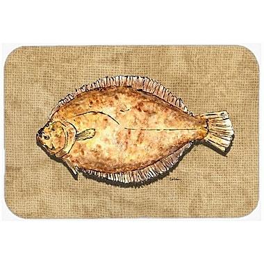 Caroline's Treasures Flounder Kitchen/Bath Mat; 20'' H x 30'' W x 0.25'' D
