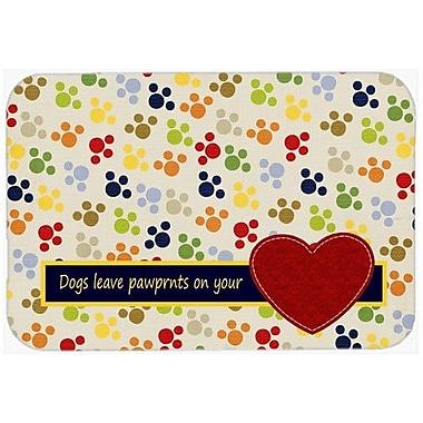 Caroline's Treasures Dogs Leave Pawprints on Your Heart Kitchen/Bath Mat; 24'' H x 36'' W x 0.25'' D