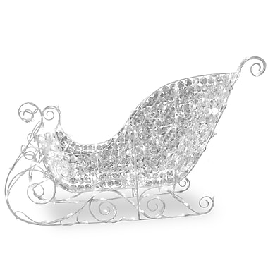 National Tree Co. Crystal Sleigh Christmas Lawn Art/Figurine