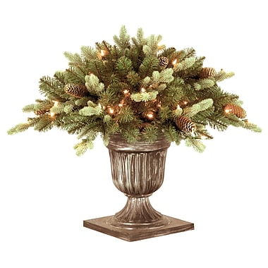 National Tree Co. Copenhagen Spruce Porch Bush Foliage Topiary in Urn