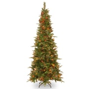 Colonial 7' Green Artificial Christmas Tree w/ 400 Incandescent Clear Lights w/ Stand