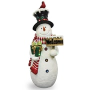 National Tree Co. Snowman w/ Sign Christmas Decoration