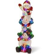 National Tree Co. Stacking Snowmen Family Christmas Decoration